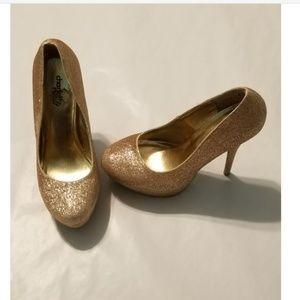 Charlotte russe gold heels